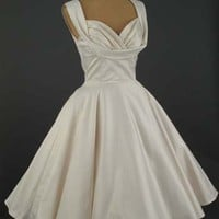 Trashy Diva 50's Style Antique White Informal Wedding Dress
