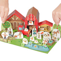 The Farm Paper Toy - DIY Papercraft Kit - Paper Toy