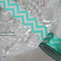 Turquoise Chevron Washi Tape by TheWashiShop on Etsy