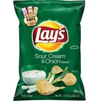 Lay's Sour Cream & Onion Flavored Potato Chips - 7.75oz