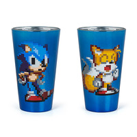 Pixelated Sonic 4 pack Pint Glass Set