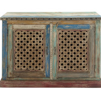 Artistically Inspiring Wood Jali Cabinet