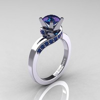 Classic 14K White Gold 1.0 Ct Chrysoberyl Alexandrite Designer Solitaire Ring… [pr023] - $1.02 : Lowest price, Supply all kinds of cheap fasion jewelry at Cost21.com