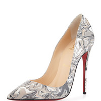 So Kate Marbled Red Sole Pump, Black - Christian Louboutin
