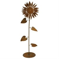 SheilaShrubs.com: Sun Flower Garden Sculpture - Small S664 by Patina Products: Garden Sculptures & Statues