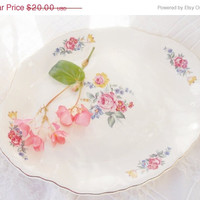 On Sale Vintage SCIO Cottage Style Platter, Tea Party, Wedding, Farmhouse, Antique Housewarming Gift, Ca.1940's