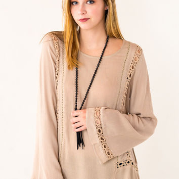 Ring Around The Rosie Top in Brown