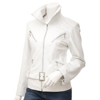 Angel Leather Jacket White