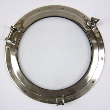Belgium Porthole Antiqued Window Brilliant Nautical DecorNAU-AL486110C