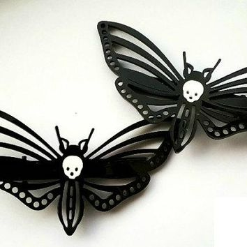 Goth Moth Hair Clips