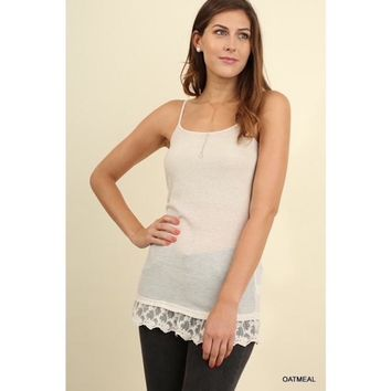 Top Extender with Lace Trim in Natural
