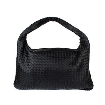 JANE&BV Weave Hobos Shoulder Bags Women Guniune Leather Zipper Handbag Soft Lambskin European And American Style Woven Bags