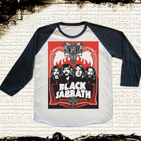 Size S -- BLACK SABBATH Shirts Heavy Metal Shirts Rock Shirts Baseball Shirts Jersey Raglan Shirts Long Sleeve Unisex Shirts Women Shirts