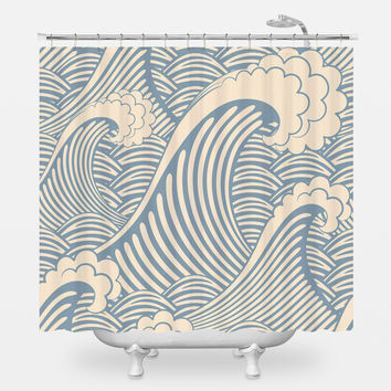 Waves of Chic Shower Curtain