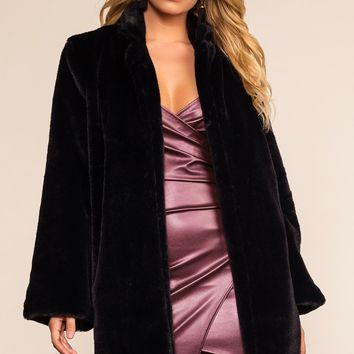Deville Fur Coat - Black