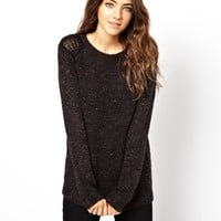 ASOS Sweater With Open Stitch Shoulder Detail