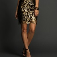 Sale-gold Double Up Mini Skirt