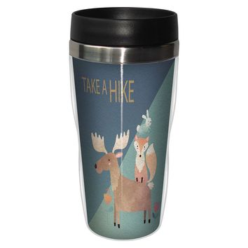 Moose and Friends Travel Mug - Premium 16 oz Stainless Lined w/ No Spill Lid