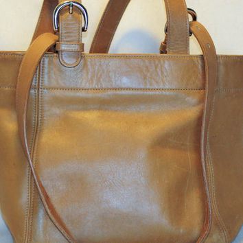 Coach - All leather Double Buckle Tote