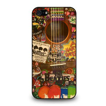 THE BEATLES GUITAR COLLAGE iPhone 5 / 5S / SE Case