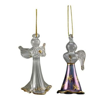 Delicate Glass Angel Christmas Holiday Ornaments from Egypt