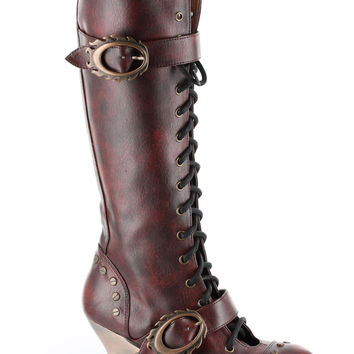 Hades 'Vintage' Lace Up Boots