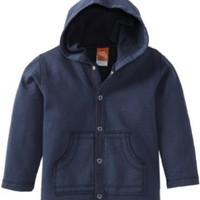 Charlie Rocket Baby Boys' Fleece Hoodie Jacket, Navy, 18 24 Months