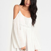 Overzealous Off Shoulder Dress - $48.00 : ThreadSence, Women's Indie & Bohemian Clothing, Dresses, & Accessories