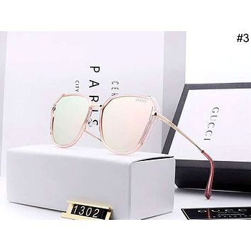 GUCCI 2019 new women's large frame polarized driving color film sunglasses #3