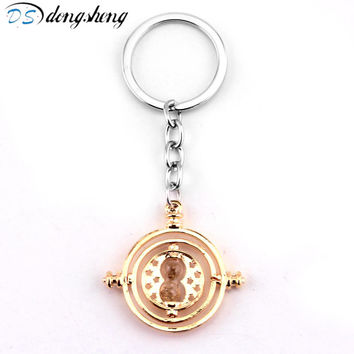 dongsheng Movie Harry Potter Related Jewelry Pendants Time Turner Keychain for Women Men Gifts Key Chain -50