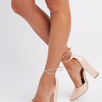 Lace-Up Pumps | Charlotte Russe