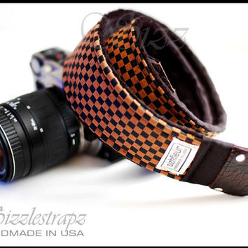 Camera Strap for men and women with genuine by sizzlestrapz