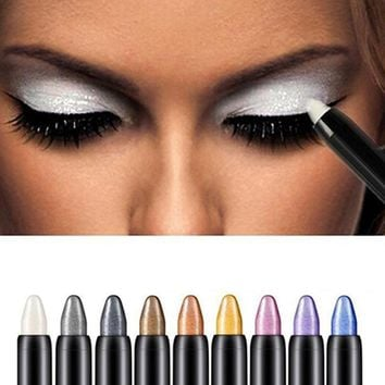 1pc Beauty Highlighter Eyeshadow Pencil Cosmetic Glitter Eye Shadow Eyeliner Pen Long-lasting Makeup Cosmetic Tool