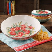 The Pioneer Woman Vintage Floral 5-Piece Pasta Bowl Set - Walmart.com