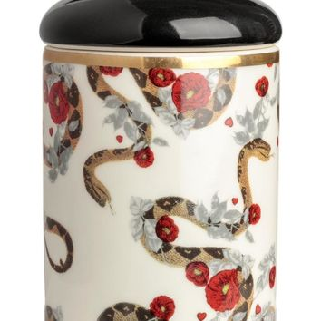 Scented candle in a holder - White/Firewood & Fig - Home All | H&M GB