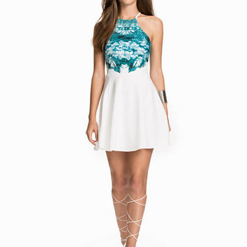Printed Top Skater Dress, NLY One