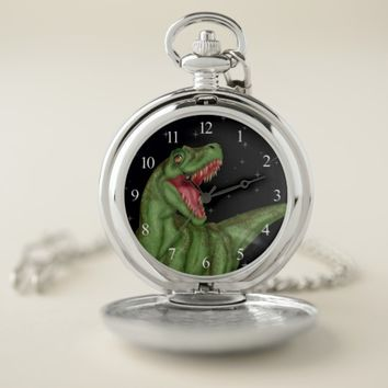 Dinosaur - Prehistoric Night Pocket Watch