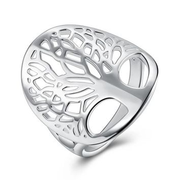925 Sterling Silver Tree of Life Ring Sizes 6-9 Free Gift Box