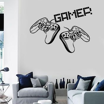 Wall Stickers Vinyl Decal Video Games Gamer Joysticks Playstation Decor Unique Gift (z2217)