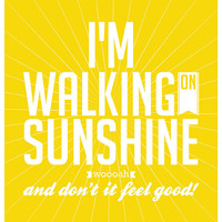 I'm walking on sunshine Music Poster Art Typography print Music Poster I'm walking on sunshine Katrina & The Waves song inspired Music Art
