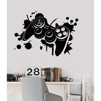 Vinyl Wall Decal Joystick Video Game Art Gamepad Teen Room Stickers Unique Gift (ig3846)