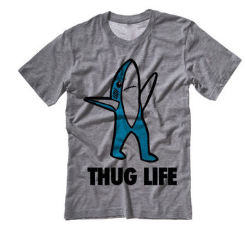 Left SHARK Thug Life Tee Shirt | Left Shark Thug Life T-Shirt | Right Shark For mvp | Katy Perry Superbowl Performance