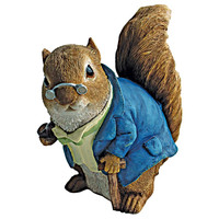 Park Avenue Collection Grandfather Squirrel Statue