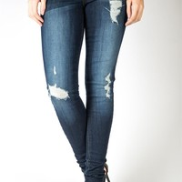 Fusing Patch Distressed Skinny Jean