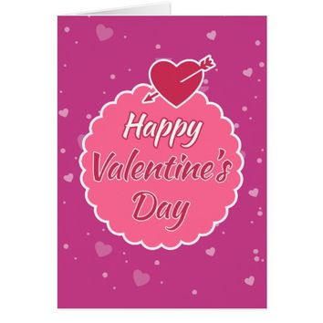 Deep Purple Pink Valentine's Day Greeting Card