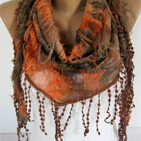 Elegant  Multicolor Scarf --gift Ideas For Her Women's Scarves-christmas gift- for her -Fashion accessories-scarves