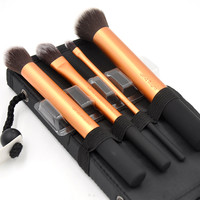2016 New 4pcs Professional Beginner Makeup Brush Cosmetic Brushes Real Makeup Powder Brushes Techniques Set Kit Make Up Tools