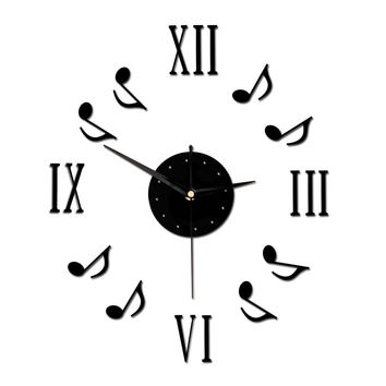 14 Inch Modern Novelty DIY Musical Notes Wall Clock
