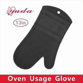 Direct Selling Time-limited Dotted Oven Gloves Bbq Gloves Cute Animal Pattern Design Heat Resistant Silicone Oven Mitts 1 piece