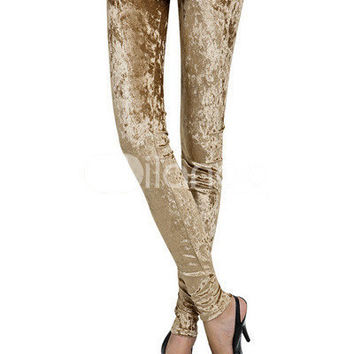 Deep Camel Cotton Women's Leggings -  Milanoo.com
